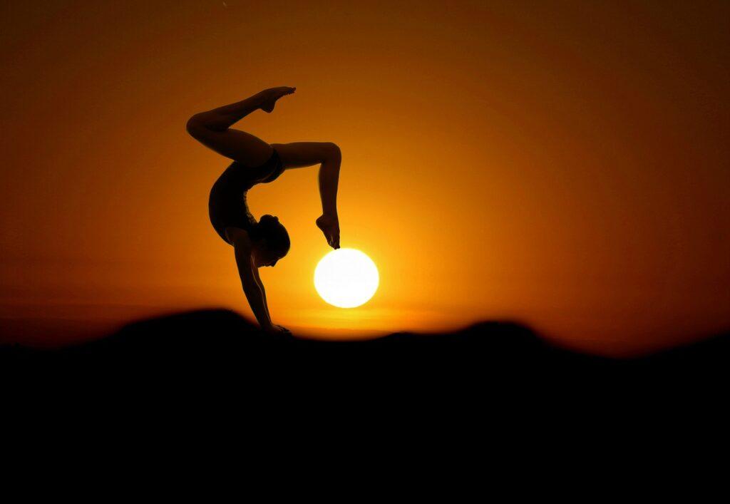 Gimnastyka - obrazek dekoracyjny