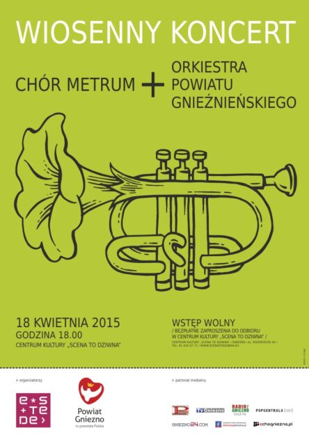 Plakat - wiosenny koncert