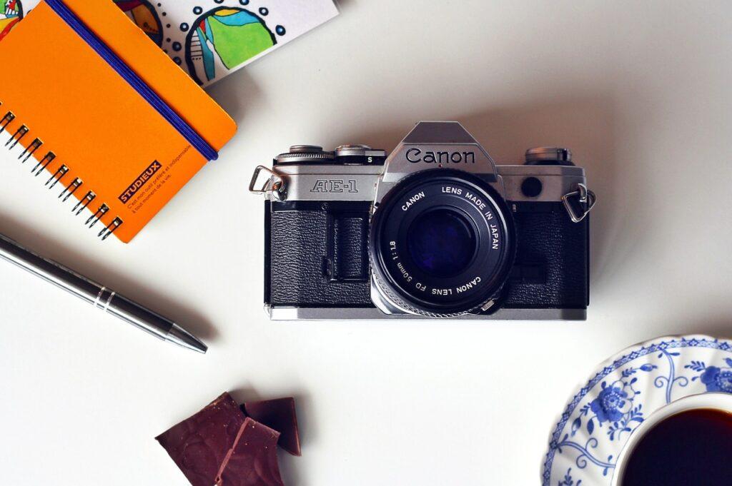 aparat fotograficzny - obrazek dekoracyjny